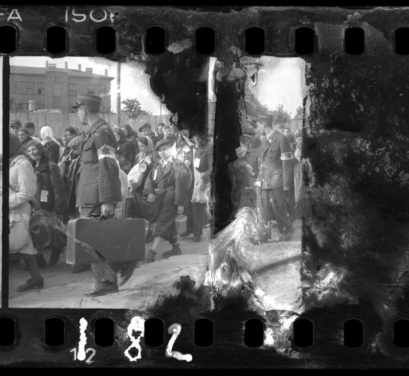 Ghetto police escorting residents for deportation