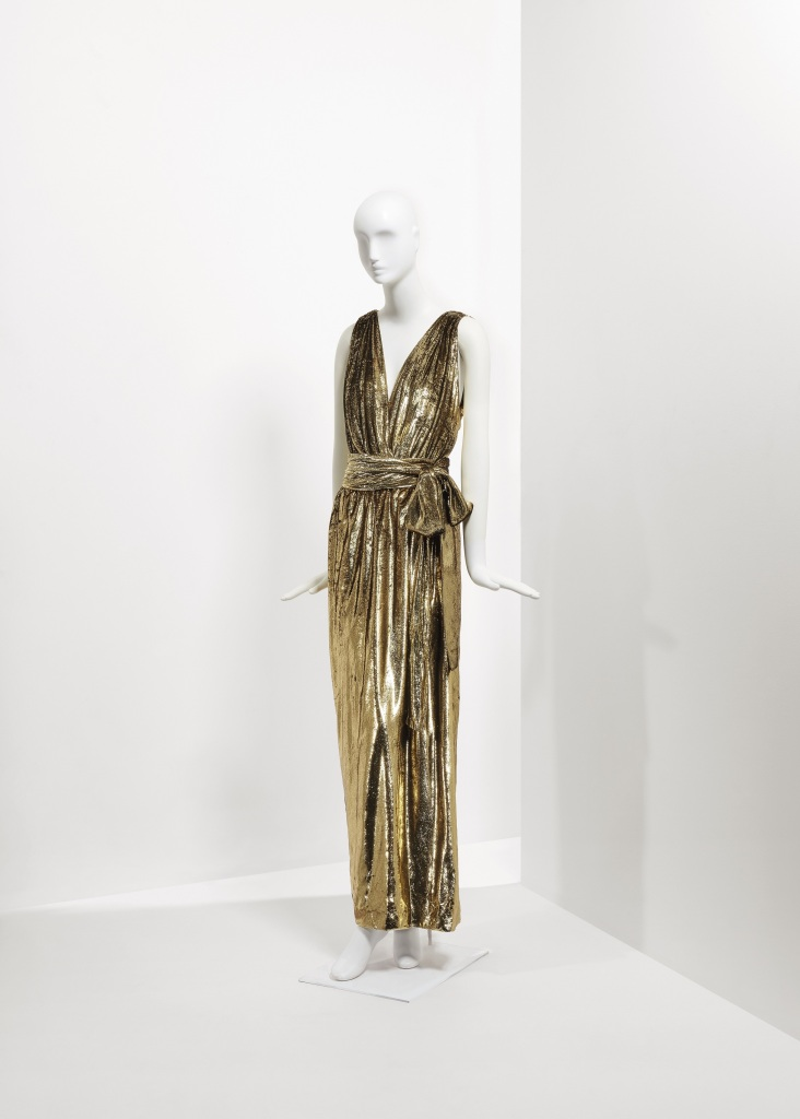 Lot 111 - A gold lurex velvet draped evening dress Spring Summer 1995 €2.000-3.000