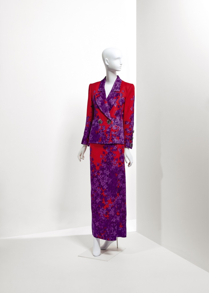 Lot 49 - An evening printed gazar ensemble Spring Summer 1989 €1.000-2.000