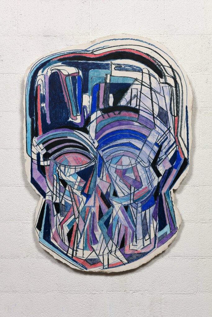 Thomas Houseago, Fractured Face for MEF,2015