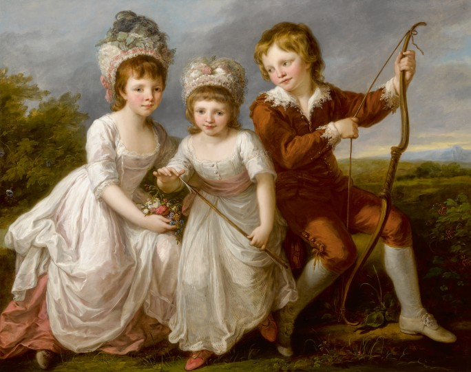 Angelika Kauffmann's Portrait of Lady Georgiana Spencer, Henrietta Spencer and George Viscount Althorp