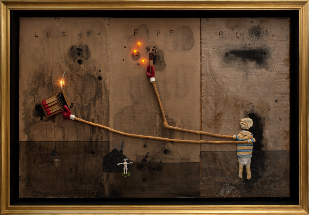 David Lynch, Boy Lights Fire, 2010,