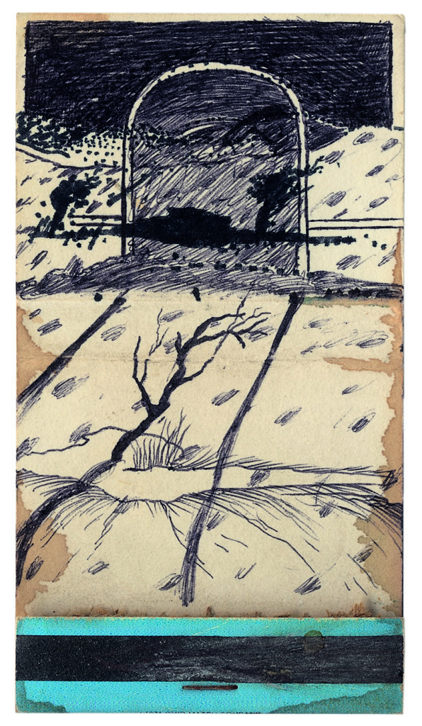 David Lynch, Matchbook Drawing #21, early 1970s