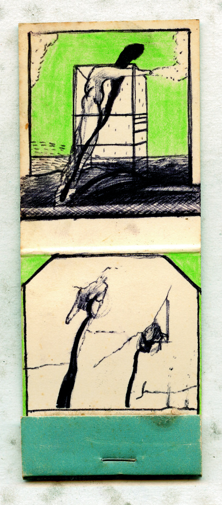 David Lynch, Matchbook Drawing #7, early 1970s,