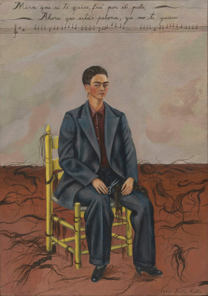 Frida Kahlo, Self-Portrait with Cropped Hair (1940