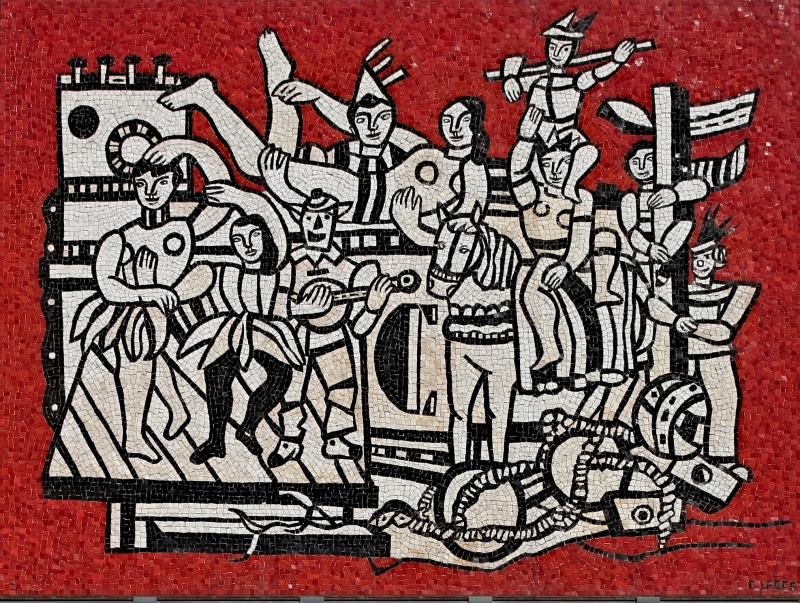 Fernand Léger, Grand Parade with red background