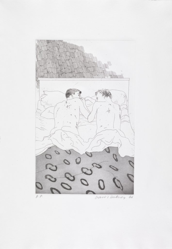 David Hockney Two Boys, from: Illustrations for Fourteen Poems by C.P. Cavafy, 1966