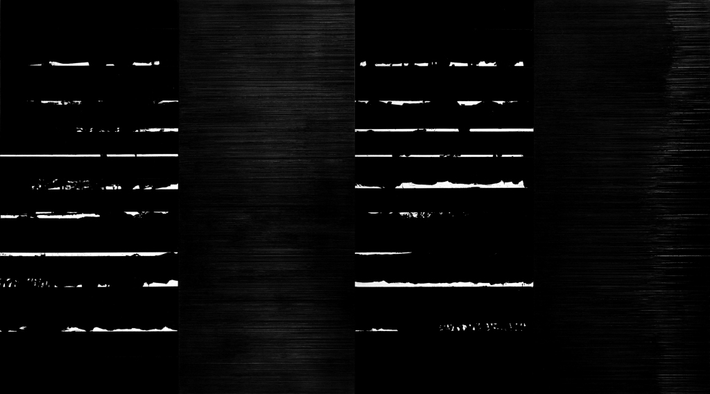 Pierre Soulages. Peinture, 290 x 520 cm, 22 mai 2002, 2002. Collection Fondation Louis Vuitton, Paris.