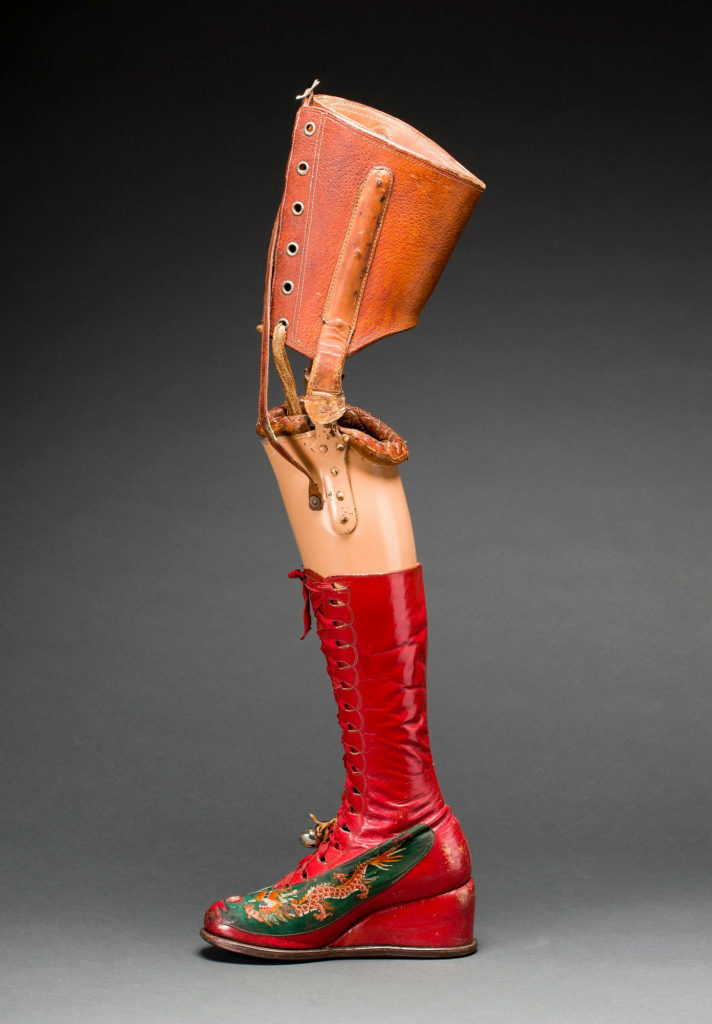 Prosthetic leg with leather boot. Museo Frida Kahlo. Photograph Javier Hinojosa