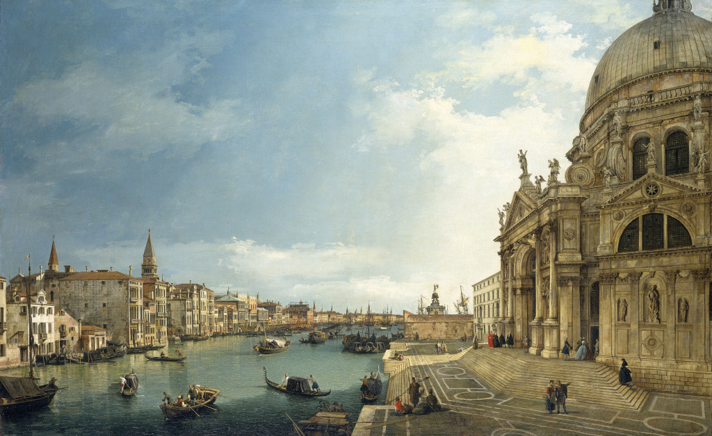Canaletto, The Grand Canal with Santa Maria della Salute looking East towar