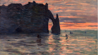 Claude Monet, Coucher de soleil à Etretat. MBA Nancy (c) Claude Philippot