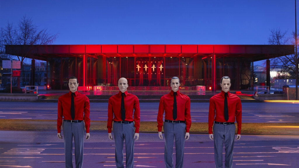 Kraftwerk, The Robots 3D concert, Neue National galerie, Berlin, 2015