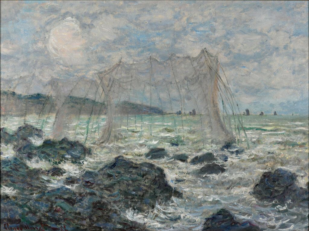 MONET Fishing nets at Pourville