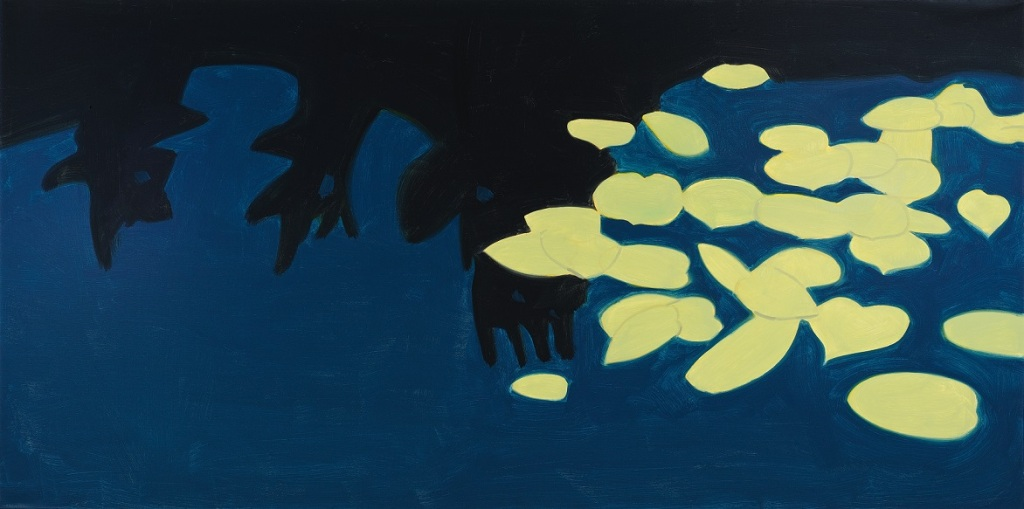 1. Alex Katz Homage to Monet 1, 2009 Oil on canvas 121,92 x 243,84 cm (48 x 96 in)