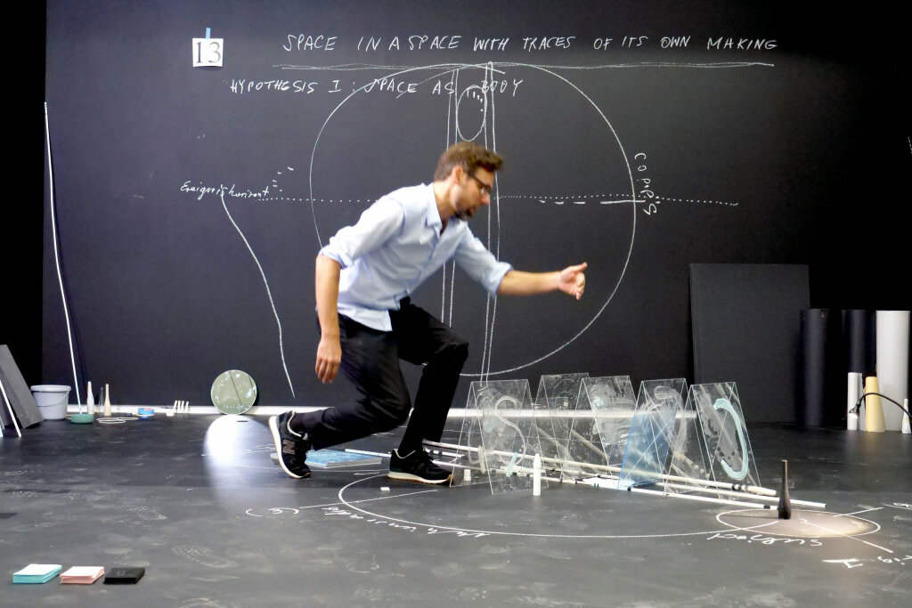 Nikolaus Gansterer, Space in a Space with the Traces of its own Making, 2018