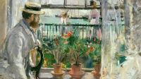 MMT160284 Eugene Manet (1834-92) on the Isle of Wight (oil on canvas) by Morisot, Berthe (1841-95); 36x46 cm; Musee Marmottan Monet, Paris, France; Giraudon; French,  out of copyright