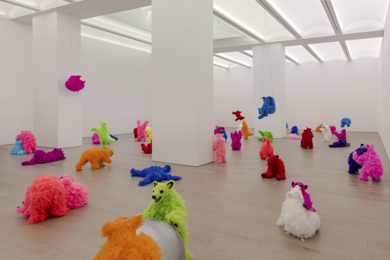 paola pivi view of the exhibition we are the baby gang at new york gallery new york