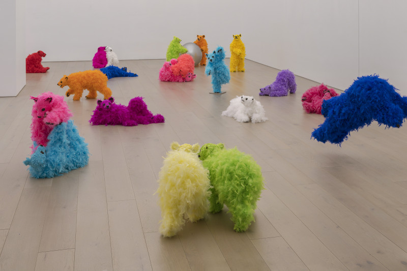 paola pivi view of the exhibition we are the baby gang at new york gallery