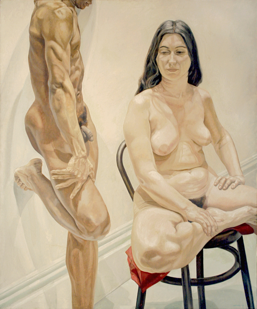 PEARLSTEIN_Standing Male Sitting Female Nudes_1969