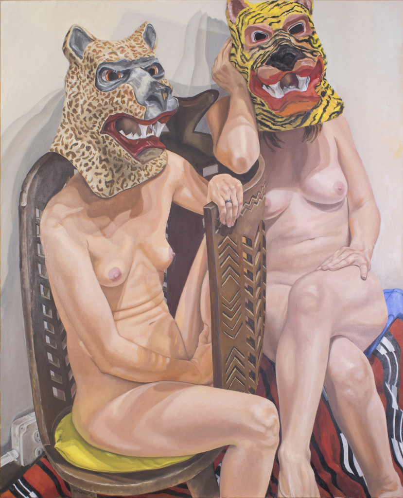 PEARLSTEIN_Two Models in Masks_2015