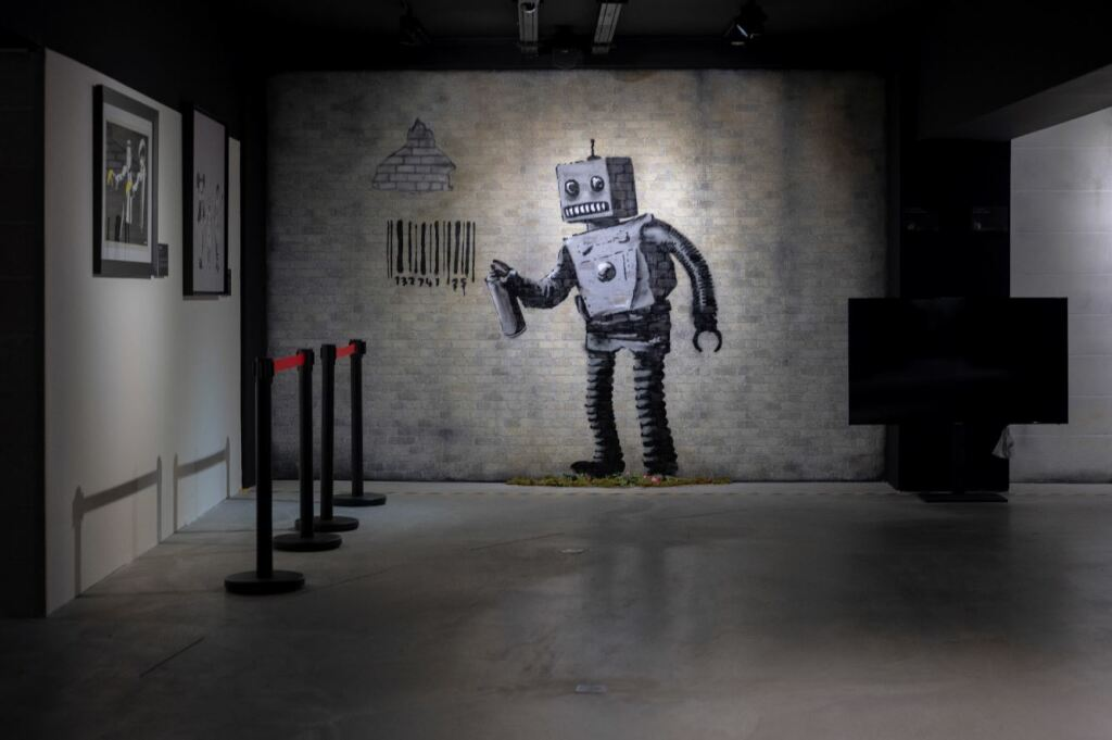 Vue de l'exposition The World of Banksy
