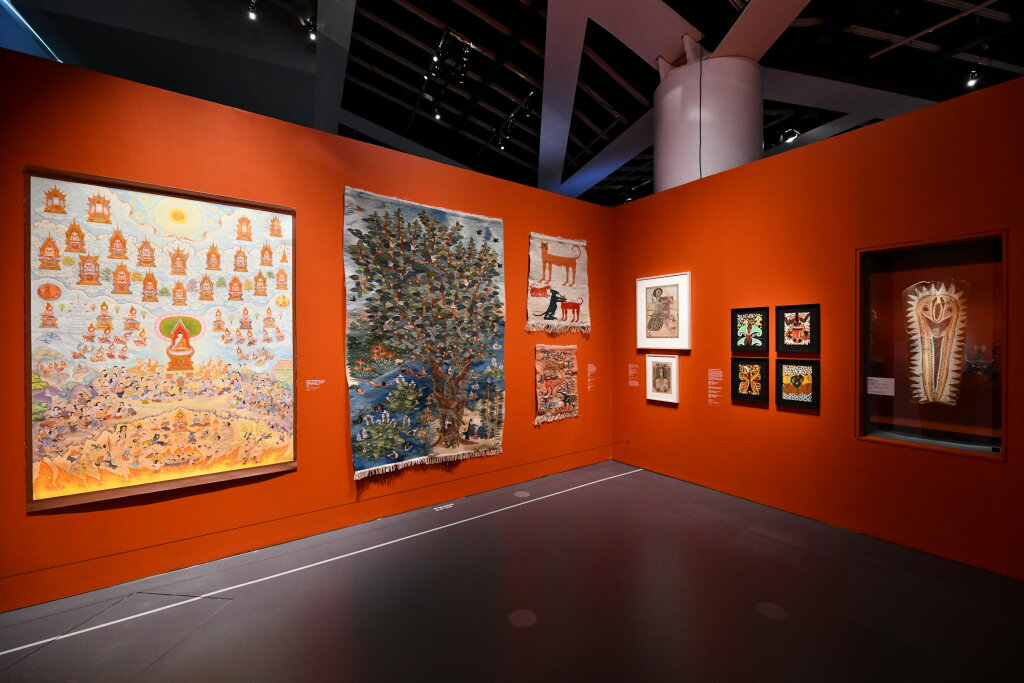 Vue exposition - 20 ans d'acquisition - Quai Branly Paris (35)