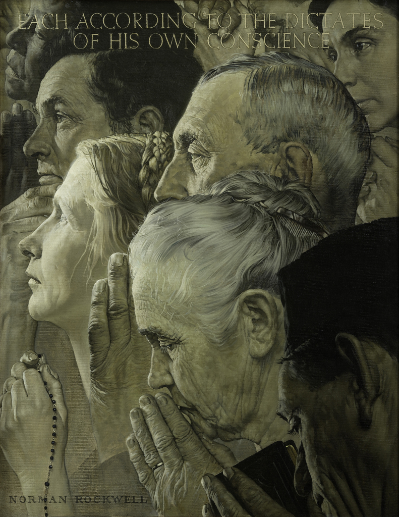 2.Norman Rockwell (1894-1978), Freedom of Worship, 1943.