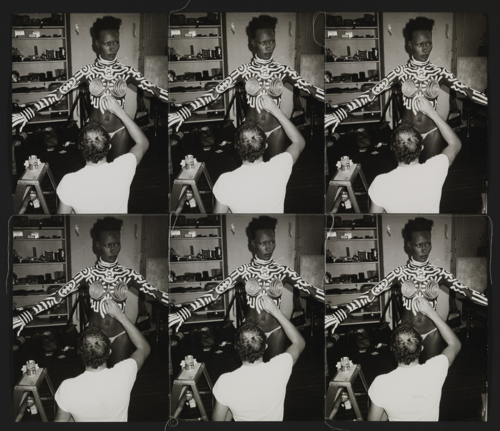 Andy Warhol, 1928–1987 Grace being painted by Keith 1986