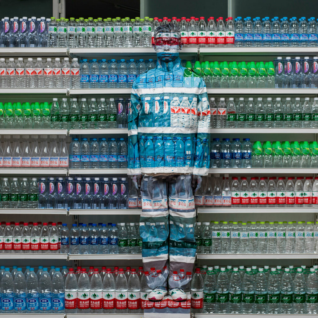 Liu Bolin Hiding, In The City Water Crisis