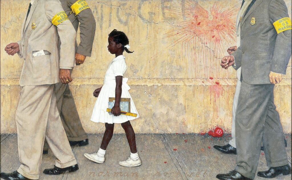 The Problem We All Live With, 1963.Illustration for Look, January 14, 1964. Collection of Norman Rockwell Museum