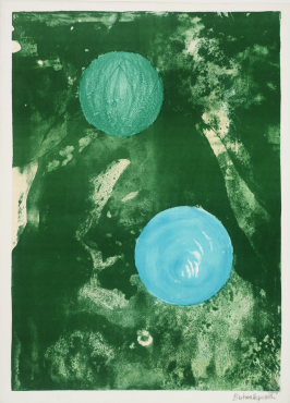 Barbara Hepworth, Sun and marble, Lithographie, 1971