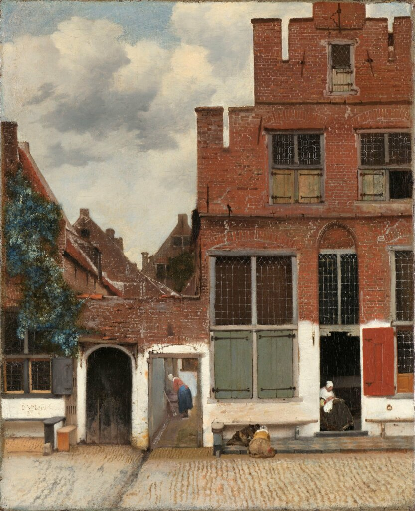Johannes Vermeer, View of Houses in Delft, known as The Little Street, vers 1658.