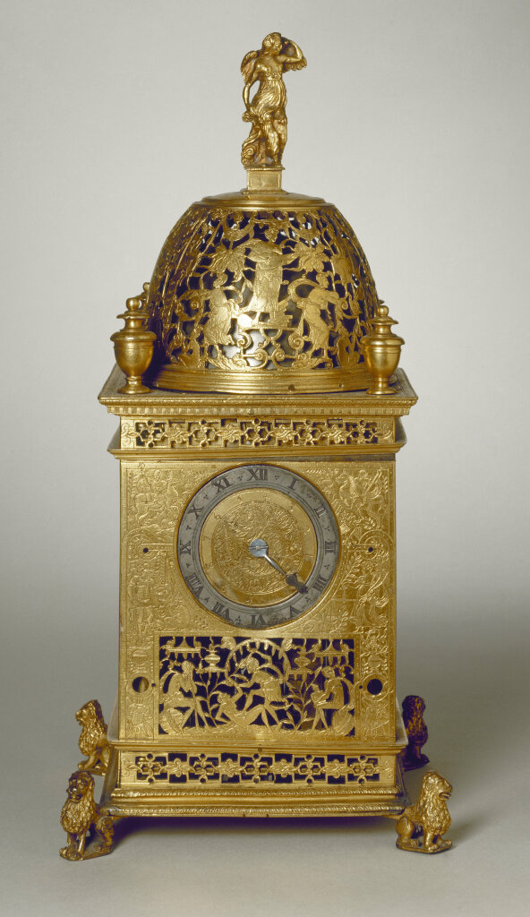 HORLOGE DE TABLE AUX ARMES DE GASTION D'ORLEANS