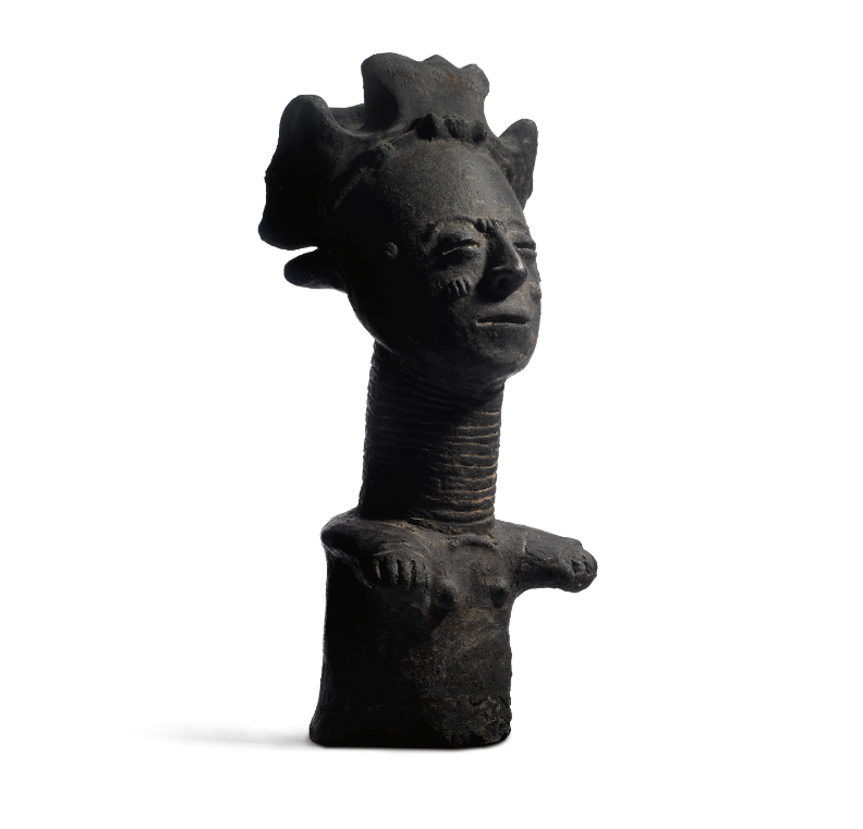 Exposition Rubinstein, Quai Branly, Statuette anthopomorphe ©musée du quai Branly - Jacques Chirac, photo Thierry Ollivier, Michel Urtado (Helena Rubinstein)