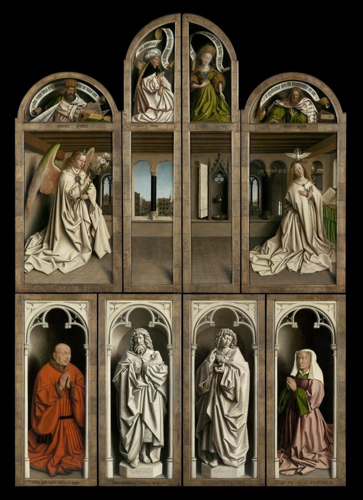Jan van Eyck, L'Adoration de l'Agneau mystique, 1432