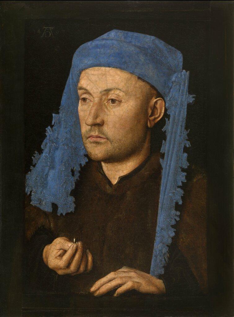 Jan van Eyck, L'homme au chaperon bleu, vers 1428-1430