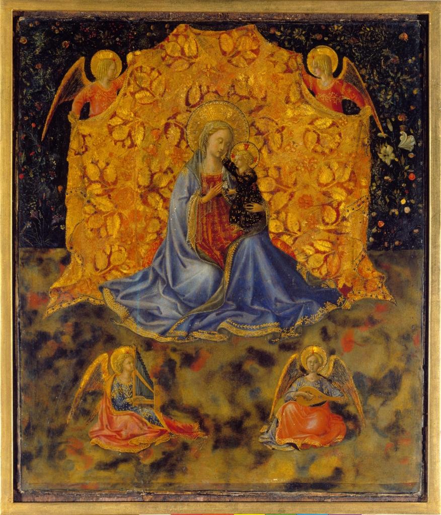 Benozzo Gozzoli, La Vierge à l'Enfant et anges, vers 1449-50
