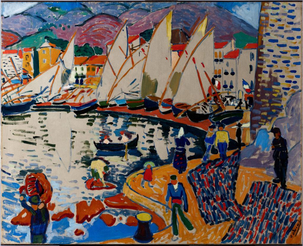 André Derain, Le Séchage des voiles, Collioure, 1905