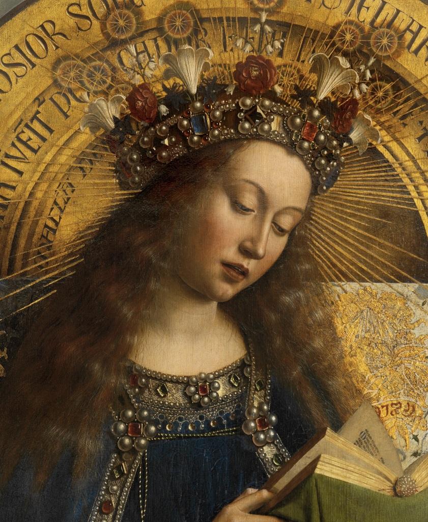 Détail d'un tableau de Van Eyck