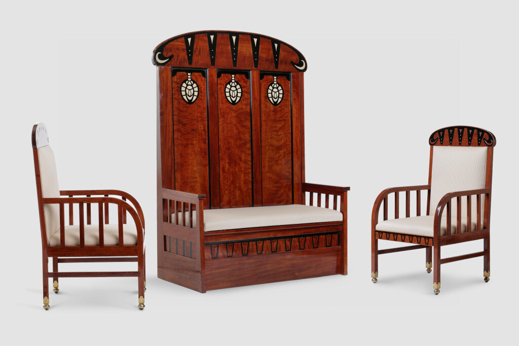Arts & Crafts furniture set, The Netherlands, before 1902