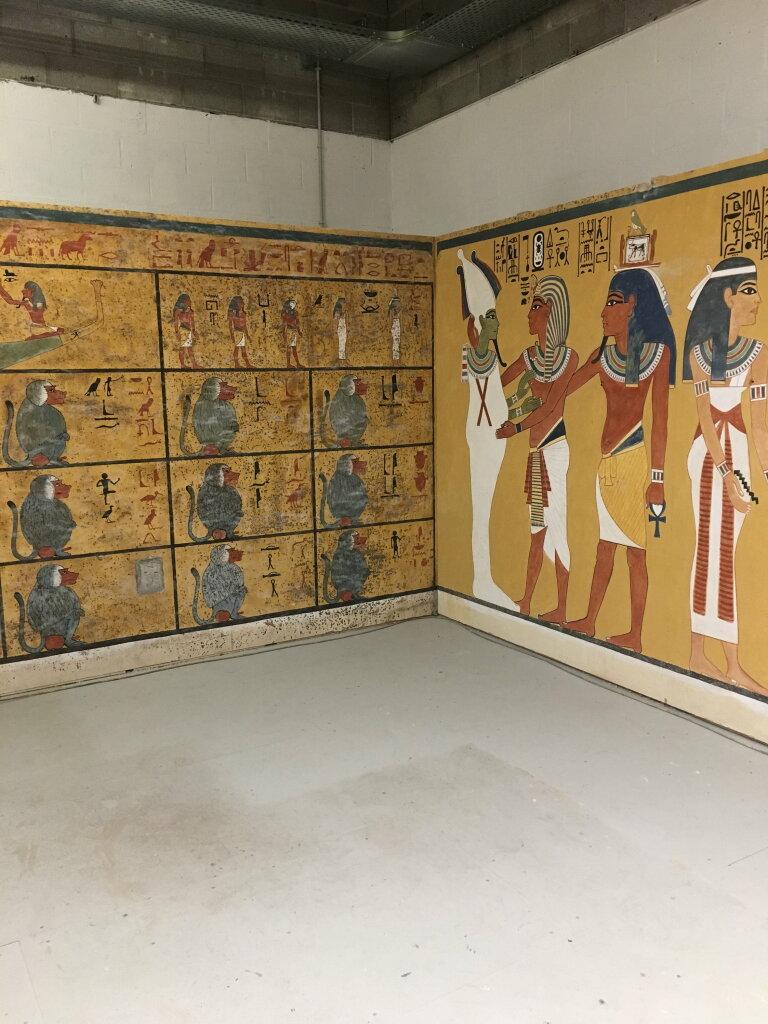 Vue de l'exposition Toutankhamon