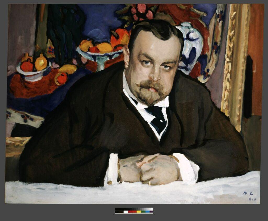 Valentin Sérov, Portrait du collectionneur de la peinture moderne russe et française Ivan Abramovitch Morozov, Moscou, 1910