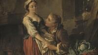 """François Boucher (1703-1770). """"La Belle cuisinière"""". Huile sur bois, avant 1735. Paris, musée Cognacq-Jay."""