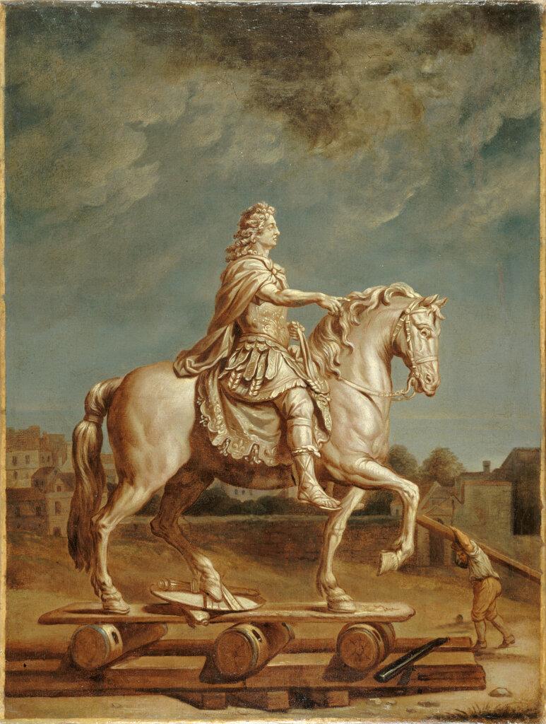 RENE ANTOINE HOUASSE - TRANSPORT DE LA STATUE DE LOUIS XIV