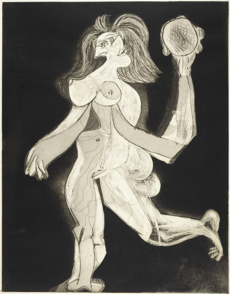 """""""La femme au tambourin, Ve état"""" (1939) de Pablo Picasso"""