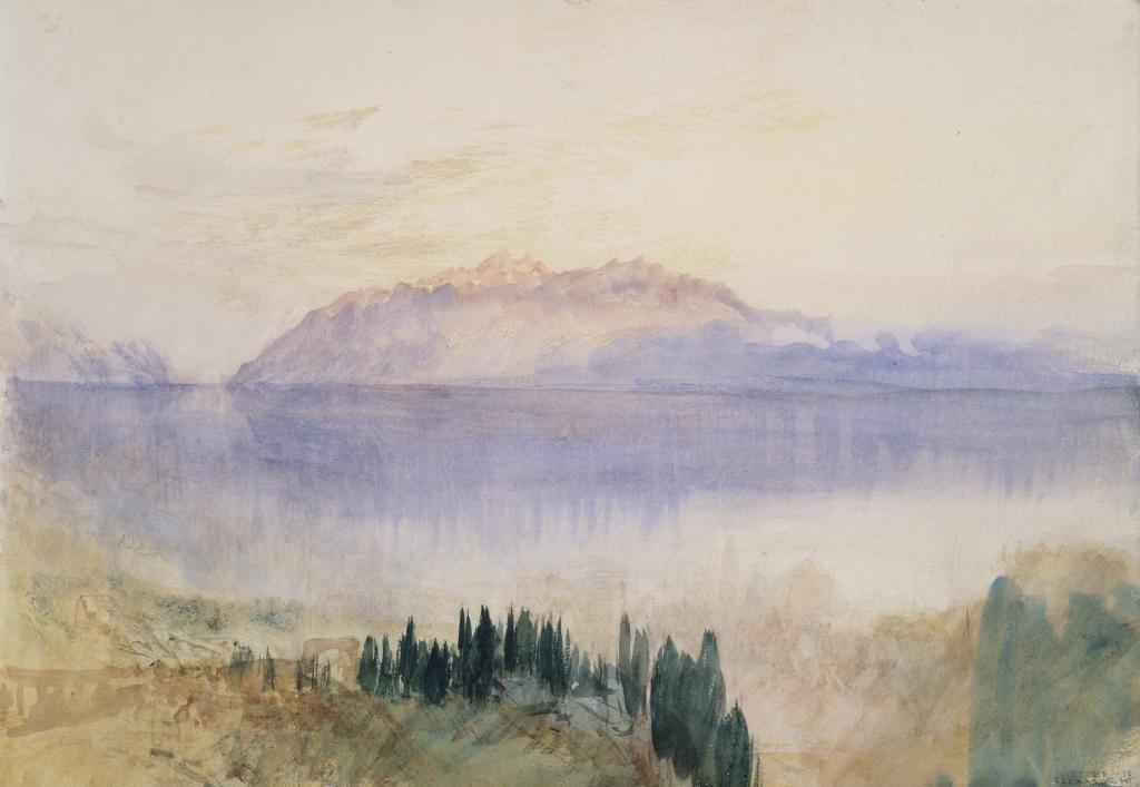 Turner, Le Lac Léman avec la Dent d'Oche au-dessus de Lausanne