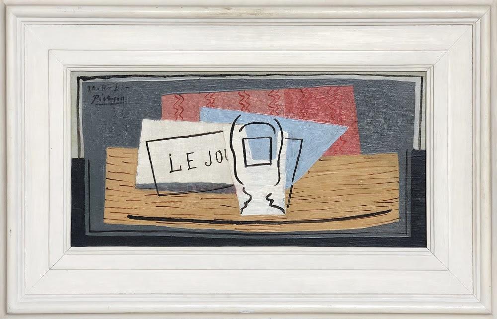Pablo Picasso, Nature Morte, 1921, huile sur toile, 22,9 cm x 45,7 cm
