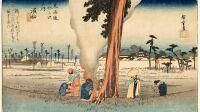 Utagawa Hiroshige (1797-1858), Hamamatsu (29e relais) Serie « Cinquante-trois relais du Tokaido » - Paysages japonais, d'Hokusai a Hasui au Musee Guimet