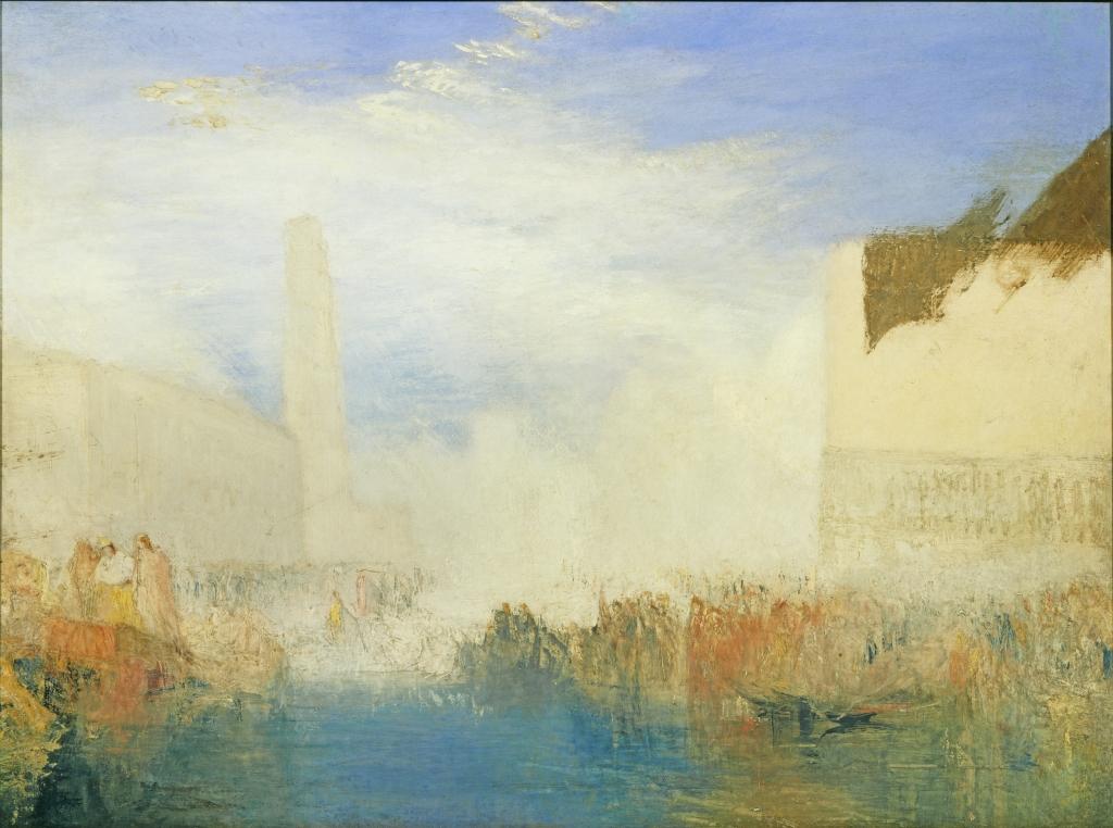 Turner, Venise, la Piazzetta avec une Cérémonie du Doge épousant la mer