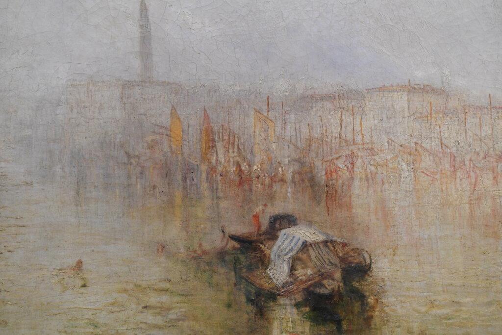 Vue d'exposition Turner, peintures et aquarelles au musée Jacquemart-André